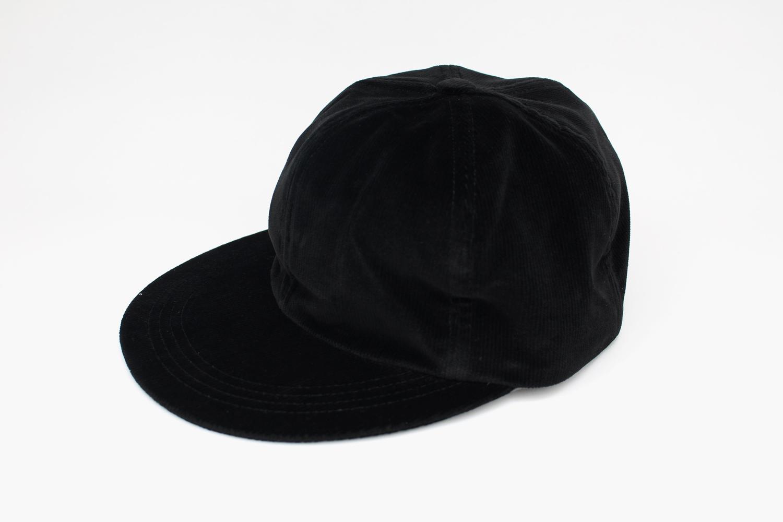 COMESANDGOES_VELVET-CORDUROY-CAP_c.BLACK_8400